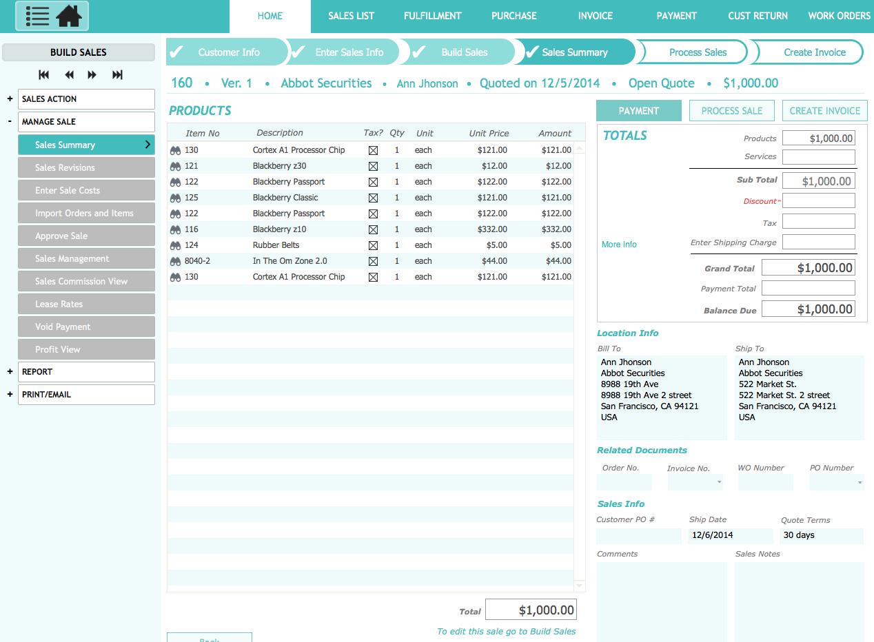 filemaker purchase order template - kibiz filemaker sales management for mac and windows